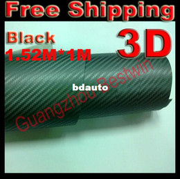 Wholesale 3d Carbon Fiber Air Drain - Wholesale-RETAIL best quality car sticker 1.52*1m 3D Carbon fiber vinyl with Air bubble free air drain B2009Free shipping