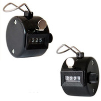 Wholesale Golf Counters - one pcs lot Golf Handheld Manual 4 Digit Number Clicker Tally Counter black color