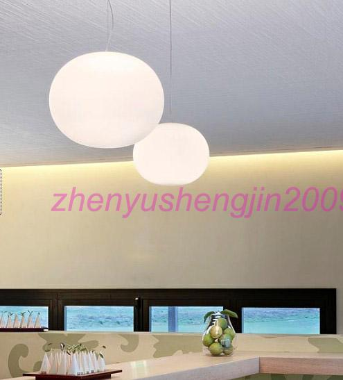 Lámpara colgante Glo-Ball lámpara de suspensión Lámpara de techo moderna de cristal blanco sala de estar habitación comedor comedor hotel luz