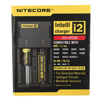 Wholesale Battery Aa C - Intellicharger i2 Nitecore Universal Battery Charger With EU Plug For 26650 18650 14500 CR123A 16340 Ni-MH AA AAA C Battery in stock