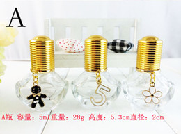 Wholesale Perfume Making - New Arrival 5ml Roll on Bottles Perfume Bottles with Pendant Make up Container 10pcs lot ZH1426