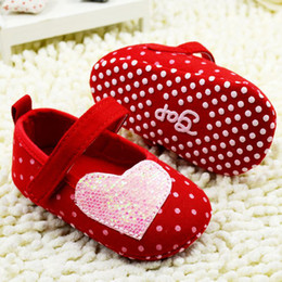 $enCountryForm.capitalKeyWord Canada - Toddler Baby Girl Big Red Dot Lavely Princess First Walker Shoes Infant Shoes 11-12-13 6pair lot Free Shipping GX431