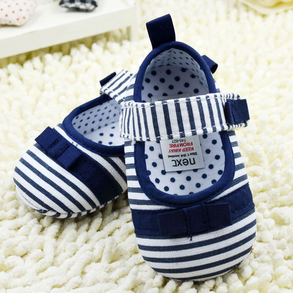 Toddler Baby Boy Girl Big Red Stripe Cotton Cloth First Walker Shoes Infant Shoes 11-12-13 6pair/lot Free Shipping GX432
