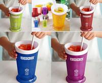 fazer sorveteira venda por atacado-Navio da gota ZOKU Slush Shake Maker, As ferramentas de sorvete caseiro autêntico, copo de sorvete, copo criativo. frete grátis