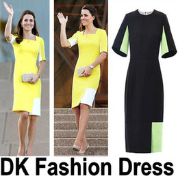 Wholesale Dress British Princess Kate - New S-XXL free shipping British Princess Kate same style slim women's Cocktail Party Bodycon dress Work Casual Party dress dk1102yz