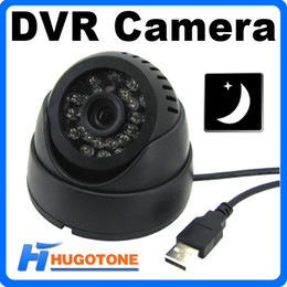 Wholesale Cctv Camera Tf Card - 24 Infrared Led Intelligent Detection Indoor Video Recorder Night Vision Security Surveillance CCTV DVR Camera With TF Card Slot