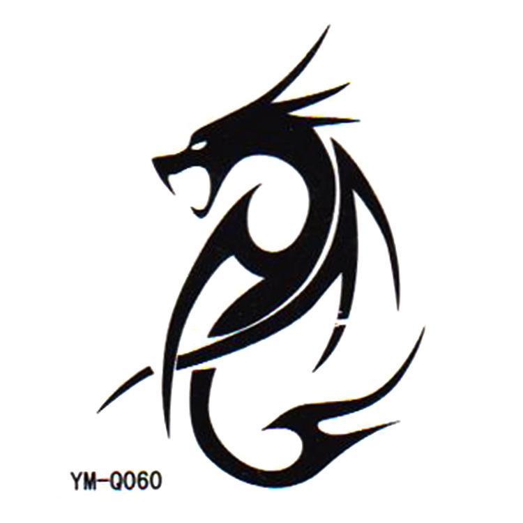 Ancient Symbol Dragon Totem 2014 New Summer Temporary Transfer Tattoo Body Sticker Paper Waterproof Non Toxic Small Gift Temporary Body Tattoo