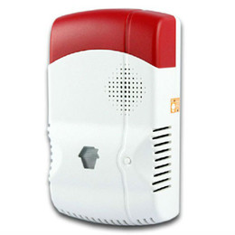 Wholesale Gas Detector For Alarm - LS111- GAS-88 Wireless Gas Leakage Detector For GSM Phone SMS Wireless Security Burglar Home Alarm System Control CHUANGO G5 315 433MHZ