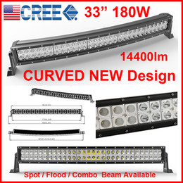 "33 ""180W CREE CURVED 60-LED * (3W) Lampe de travail Bar 4x4 4x4 9-32V Spot / Flood / Combo Beam 14400lm IP68 Drive JEEP NOUVEAU Design"