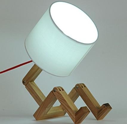2018 Modern Wooden Lamps Man Shade Table Lamps For Bedroom Study Room Light  Fabric Lamp Shade Dia 200mm H 180mm From James19198, $78.4 | Dhgate.Com