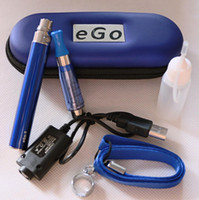 Wholesale Ego Ce5 Black Lanyards - Ego CE5 Zipper Starter Kits with ce5 Atomizer 650mah 900mah 1100mah Battery vaporizers kit with Lanyard ego Ring USB Charger