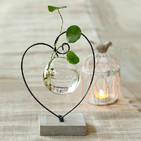 Explosion models heart- shaped glass vase glass flower hydrop...