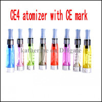 Wholesale Ego Ce4 Ce - CE4 atomizerr 1.6ml clearomizer with CE mark for ego ego-T ego battery cartomizer E cigarette 8 Colors instock High Quality DHL free