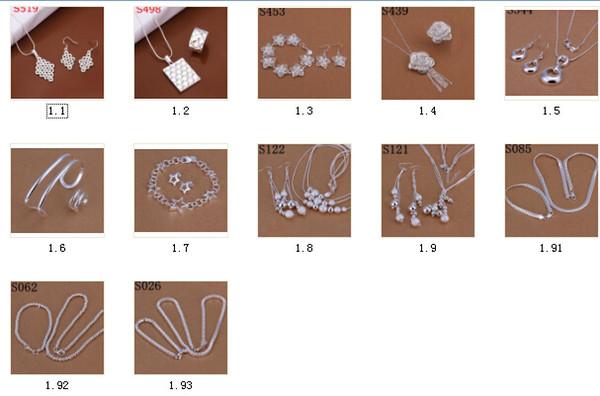 925 Sterling Silber Ketten Mode Halskette und Ohrring setzt österreichischen Kristall Schmuck Halsketten