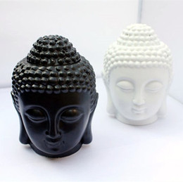 Wholesale Oil Candle Holders - Buddha candle holders aromatherapy furnace ceramic lamp candle aroma furnace oil lamp essential oil burner home decoration birthday gifts