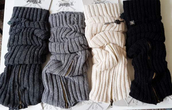 2015 inverno caldo cerniera in lana solido arcylic scaldamuscoli in maglia crochet ghette avvio polsini calza calza copri gambali leggings stretto # 3643