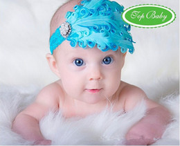 Baby Girls Peacock Headband Canada - Baby feather hair band Peacock Feather Flower Bowknot Headband Headwear Hair band Accessories Ornaments For Kids Baby Girl Photo Prop