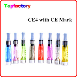 Wholesale Ego Atomizer Long Wick - Ego CE4 Atomizer Cartomizer 510 E Electronic Cigarette E-cigarette Capacity 1.6ml CE4 long wick clearatomizer various colors With CE Mark