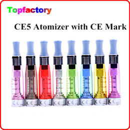 Wholesale Ce4 Clearomizer Vv - CE5 Atomizer Clearomizer Vaporizer Cartomizer for ego t ego VV ego C Twist Battery Electronic Cigarette E Cigarette Kits CE4 Mark DHL Free