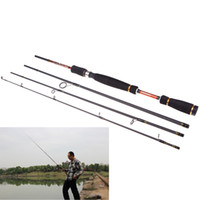 Wholesale Heavy Fishing Lures - 2015 NEW 2.1M 6.89FT Carbon Fiber Sea Fishing Pole Portable Fly Fishing Rod Spinning Lure Tackle Tool H10959