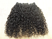 Wholesale Grade 5a Malaysian Curly Hair - Brazilian beauty human virgin hair extensions natural black color curly hair weft grade 5A weaves new star style weaves