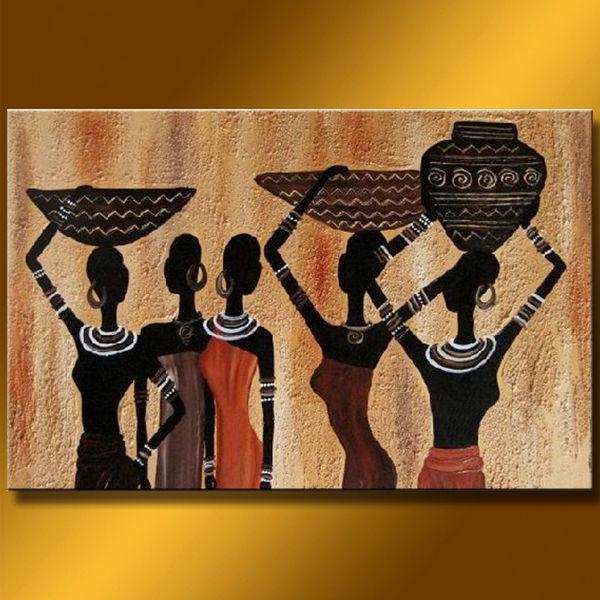 African Wall Decor 2017 high grade handicraft african wall art nude lady women oil