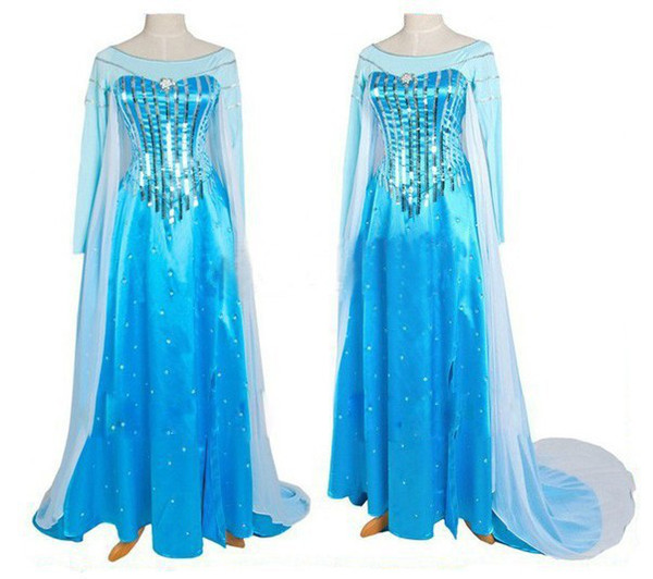 elsa costume adult snow queen frozen costume princess elsa cosplay halloween costumes for women fantasy women  sc 1 st  DHgate.com & Elsa Costume Adult Snow Queen Frozen Costume Princess Elsa Cosplay ...