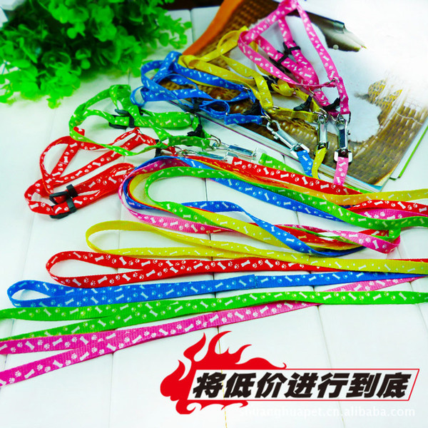 best selling New Nylon Pet dog cat Leash Lead Collar puppy Harness Rope