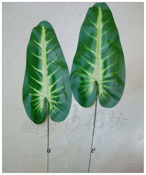 Kunstseide Wassermelone Blatt Simulation Grünes Blatt Watermelon Blatt Grüne Pflanzen Blatt DIY Hausgarten Dekor /