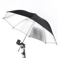 Wholesale Photo Flash Light Strobe - NEW 83cm 33in Studio Photo Strobe Flash Light Reflector Umbrella Black Silver D1137