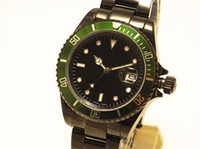 Wholesale Box Die - man hot black die Wristwatches with Green Original box, manual date Fashion new Automatic men watch Luxury Stainless steel Men's Watches