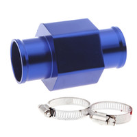 Wholesale Hose Joints - New Water Temp Temperature Joint Pipe 32mm Sensor Gauge Radiator Hose Adapter Blue K1210BL