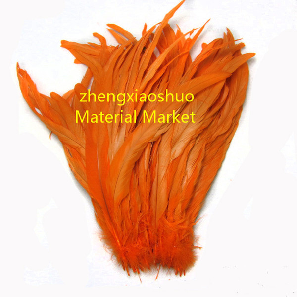 Free shipping Wholesale 100pcs/lot 12-14inch(30-35cm) orange Rooster cock coque tail feather for costume hat decor