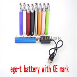 Vários tipos on-line-bateria do ego-t com marca de certificação do CE para todos os tipos do atomizador 650mah 900mah certificação de 1100mah ROSH para cigarros de E várias cores