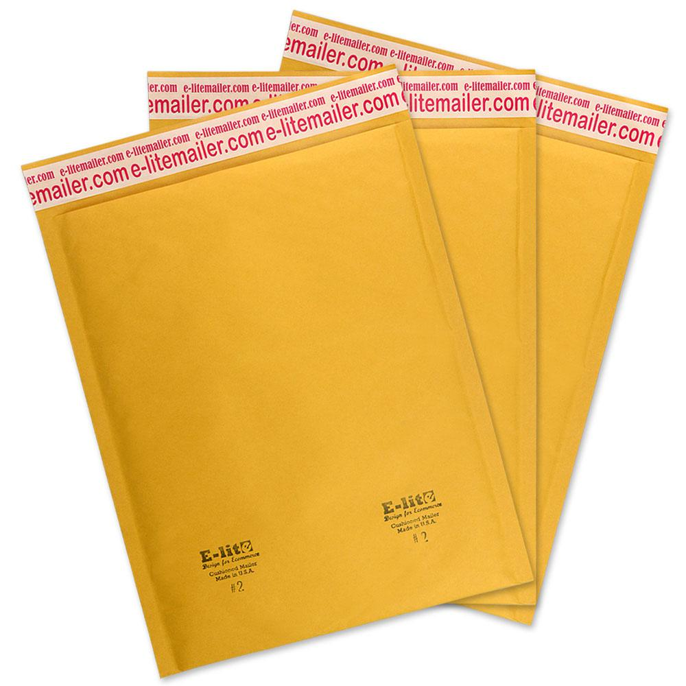 Size #2 8.5x12 Poly Bubble Mailers Plastic Envelopes 100 /% Recyclable 150