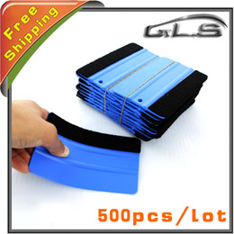 Wholesale Vinly Wrap - Free shipping Scraper Carbon Fiber Vinyl Squeegee Car Film Wrapping Vinly Tools Soft Material Vehicle Film Scraper 500 PCS Per Lot By FEDEX