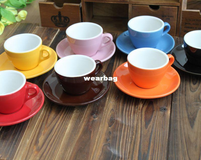 Wholesale !! Ceramic Coffee Cup And Saucer Cappuccino Coffee Cup ...