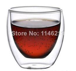 Wholesale Bodum Glasses - Wholesale-bodum 250ml free shipping 2pcs lot wholesale Europe Style Double Wall Glass Coffee Cup Mug Tea cup glassware high quality