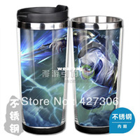 Wholesale Lol Coffee Cup - Wholesale-Wholesale lol Shockblade Zed Stainless Steel Coffee Cup Mugs Water Glass Free Shipping