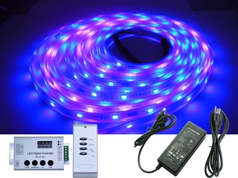 5M 500CM 5050 SMD 1809IC 1809 IC Dream Magic RGB-Farbe Led Streifen wasserdicht + 133 Änderungen Controller + 12V 5A Stromversorgung für Weihnachten
