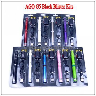 Top Qualidade AGO G5 Erva Seca Vaporizador Pen Vapor Cigarro Eletrônico Kits Display LCD Ago G5 Caneta E Cigarro Cig para Vaporizador De Erva De Cera