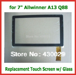 "Wholesale Screen Panel Allwinner - Wholesale-Replacement 7"" Capacitive Touch Screen Digitizer Panel for 7 inch Allwinner A13 A23 Q8 Q88 Tablet PC"