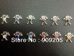 Wholesale Owl Charms For Sale - 2017 Hot Sale Baseball cap boy with different color Birthstones Floating Charms for Origami Owl Locket 120pcs lot hyfc135-1