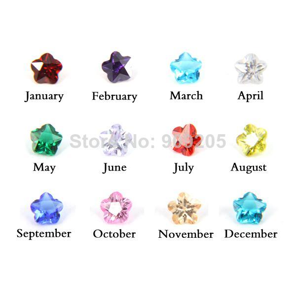 2018 Hot Sale 100 Crystal 5mm Flower Birthstone Charm For Origami