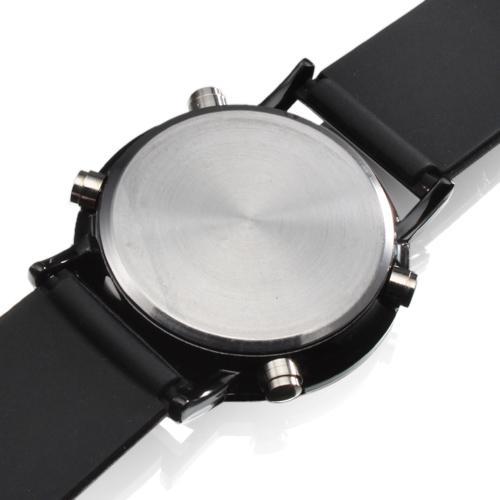 Unisex-runde Spiegel-Gesichts-rote LED-Digital-Schwarz-Silikon-Band-Armbanduhr-Mannfrauensport-Luxusgelee-Süßigkeit passt Mode-beiläufige Uhr auf