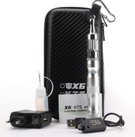 Wholesale X6 Electronic Cigarette Kit - EGO X6 Pyrex Glass Protank 2 Electronic Cigarette e cigarette starter kit with Pro tank atomizer and X6 variable voltage battery