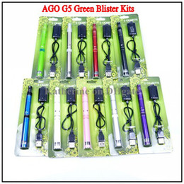 Wholesale Ago G5 Lcd - AGO G5 Blister Kits Dry Herb Vaporizer Pen Vapor Electronic Cigarette Kits 650mah LCD Display Battery E Cigarette Cig for Wax Herb Vaporizer