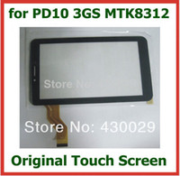 Wholesale Screen Inch 3gs - Wholesale-Original Replacement 7 inch Capacitive Touch Screen with Glass Digitizer for Freelander PD10 3GS MTK8312 Tablet PC