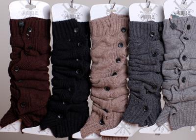 Moda abbottonatura lana coniglio pelliccia arcylic scaldamuscoli lavorato all'uncinetto ghette avvio polsini calze calza avvio copertine leggings stretto # 3646