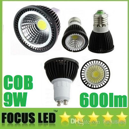 Wholesale Dimmable Mr16 Led Downlights - High Power COB 9W Led Bulbs Lamp 120 Angle GU10 E27 E14 MR16 Warm Cool White Led Spot Downlights Dimmable 110-240V 12V CE ROHS UL CSA